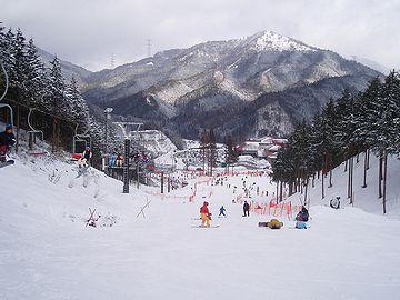 『いぶきの里スキー場』。現在、積雪は、120㎝くらいのようです。