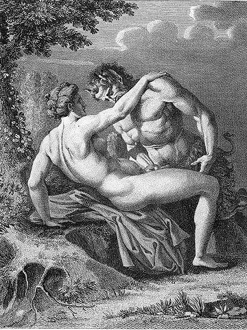 『サテュロスとニンフ』 アゴスティーノ・カラッチ