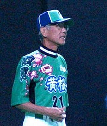亡くなる前日の写真。プロ野球マスターリーグ『大阪ロマンズ』の監督代行を務めました。