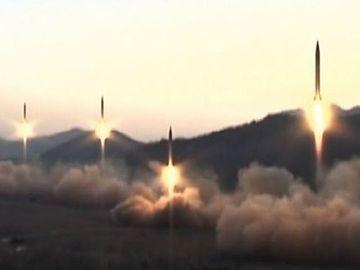 北朝鮮の国営メディアが放送した映像