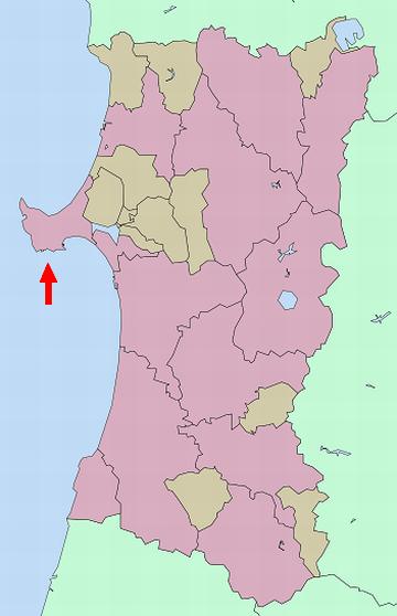 男鹿半島の位置