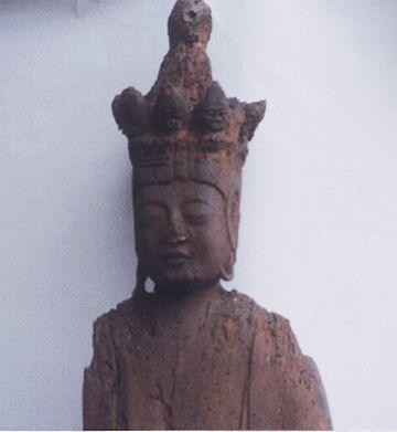 赤神神社・五社堂の観音菩薩像