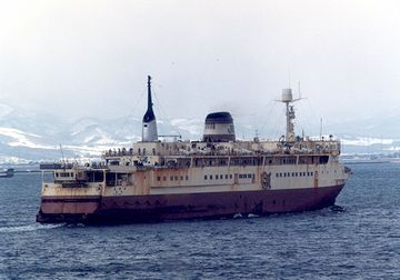 あまりにもボロっちく、とても日本の船とは思えません