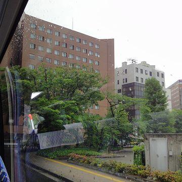 茶色いビルは『代々木ゼミナール』です