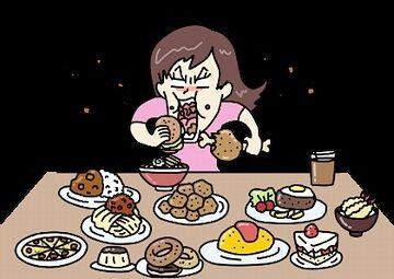 早食いだから、足りなく感じる