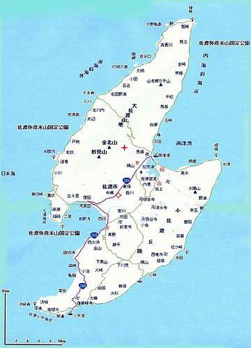 佐渡ヶ島の面積