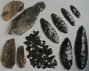 黒曜石の石器