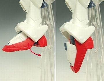 ガンダムくんの足です(『HCM-Pro 55-00 ウイングガンダム』/バンダイ)