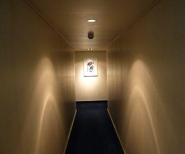 スイートルームに続く廊下
