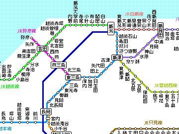 新潟近郊路線図