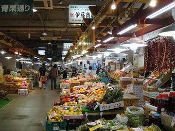秋田市民市場・青果通り
