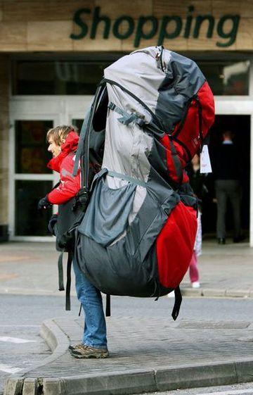 登山の人って、荷物がスゴい大きいじゃない