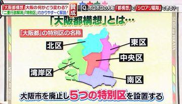 大阪都構想では、特別区の設置を目指してます
