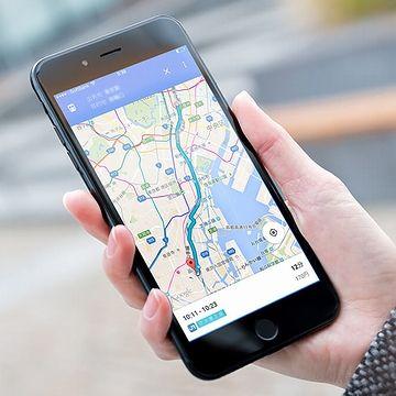 スマホで「Google map」を見ながら歩く