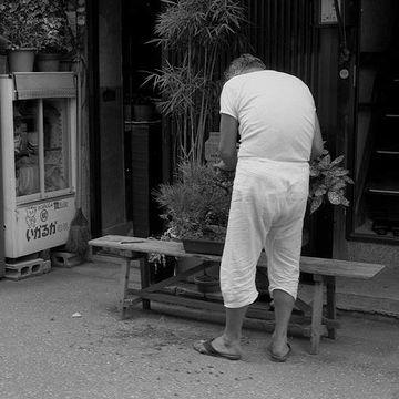 ステテコの似合う街、東京下町。もちろん、昭和の風景です。