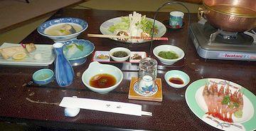 『割烹の宿 湖畔』の夕食