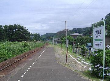 『大間越駅』です