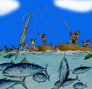 昔の人は、海で魚を捕ったりして暮らしてたんじゃないの?