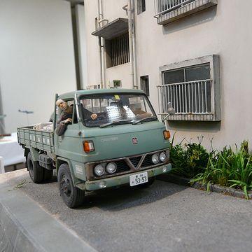 『ちり紙交換車』香川県の模型愛好家グループ「高松ニッパーズ」作品展より