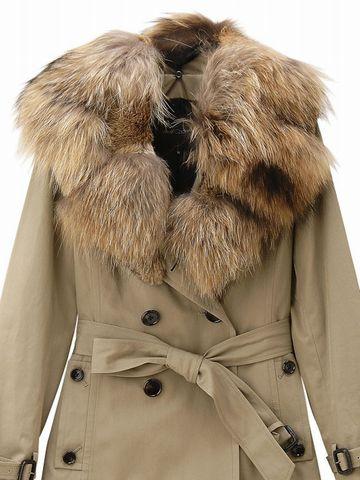 ファー襟のコート