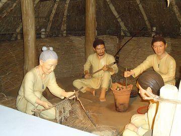あとは、縄文人の生活を再現した展示ですね