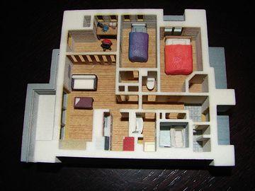 3Dプリンターによるフロア模型