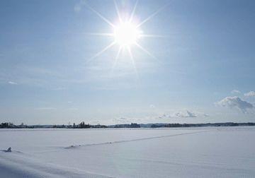 まっさらな深い雪と、さんさんと降り注ぐ陽光
