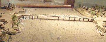『千住大橋』のジオラマ