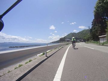 佐渡にある県道45号。路線距離167.2km。日本一長い地方道です。