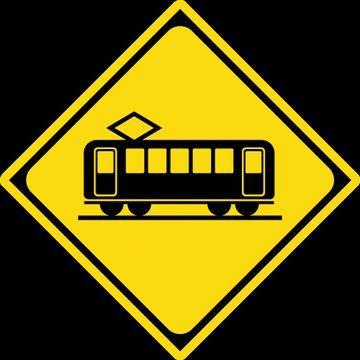 電車の「踏切あり」