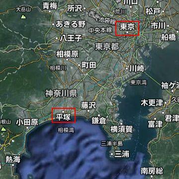 距離で言えば、東京から平塚までと同じです