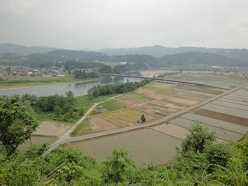 ここからの眺めは、桃源郷のようです
