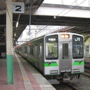 JRの新潟駅発、秋田方面行き始発は、白新線の6:08分