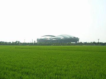 新潟スタジアムの周りは、田んぼだらけ