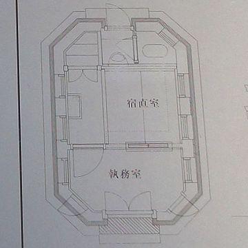 説明板の平面図