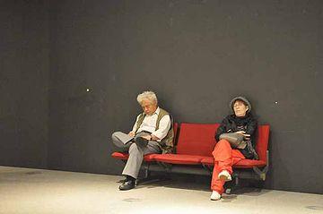 『江戸東京博物館』を回ってるとき、何度もベンチで休憩を取らなければなりませんでした