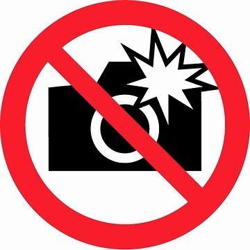 撮影はオッケーでも、フラッシュは禁止