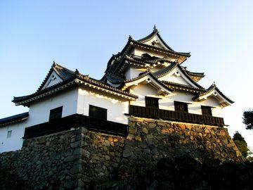 彦根城天守。国宝です。