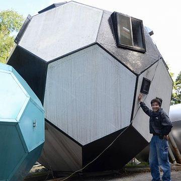 サッカーボール型の住宅