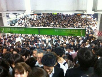 人身事故があった日の品川駅