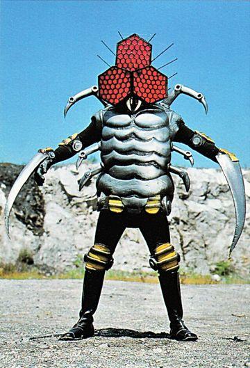 仮面ライダーに出てくるクモ怪人
