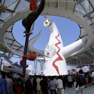 なんといっても有名なのが、大阪万博(1970年)に聳えた太陽の塔です