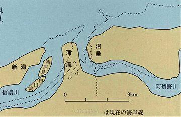 戦国時代ころの新潟市