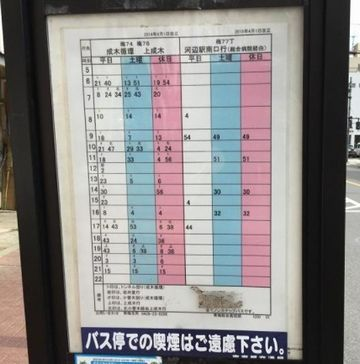 『青梅総合高校前』の時刻表