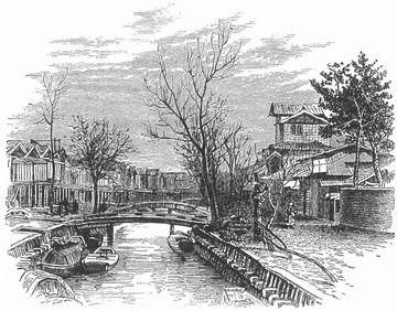 明治11(1878)年の新潟市街(女性紀行作家イザベラ・バードの直筆スケッチ)