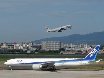 高知空港行きANA
