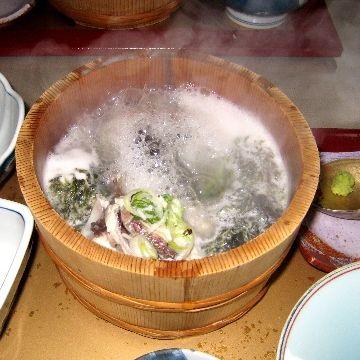 美野幸・石焼き鍋の魚