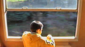 JR九州の特急『はやとの風』は、窓が開きます