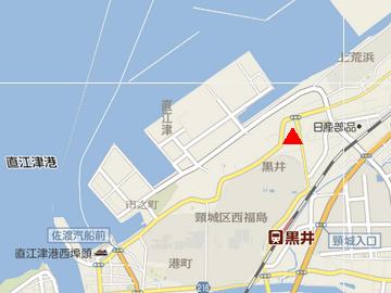 旧柿崎町黒井付近の地図