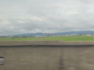 真っ平らな稲作地帯